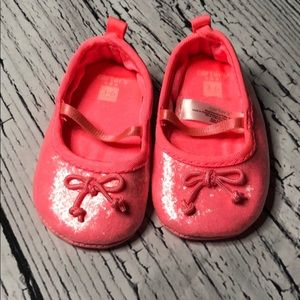*6 for $30* Carter's EUC pink sparkle shoes 3-6 m
